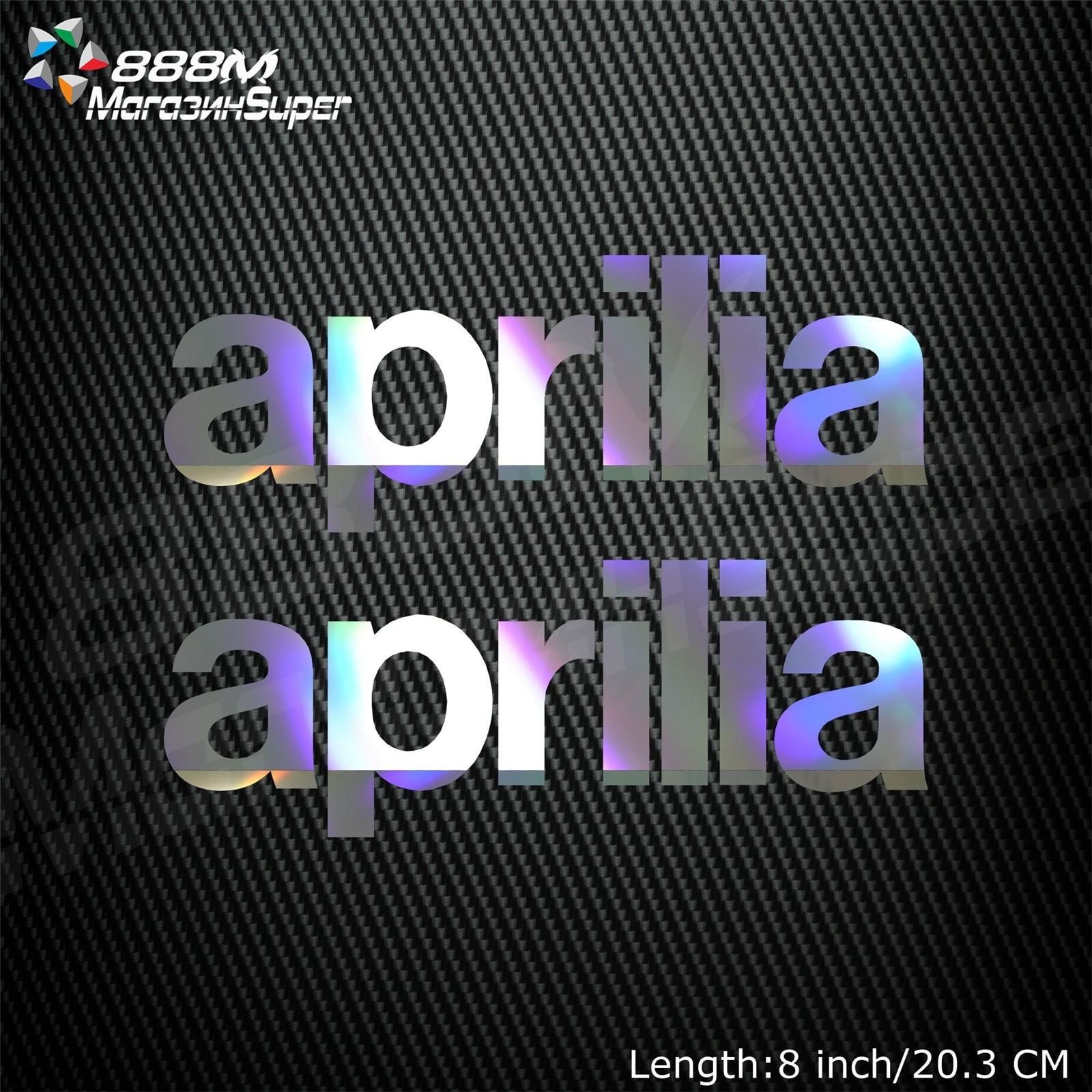 1Pair Motorcycle Reflective Laser Helmet Tank Pad Decoration Sticker Motorbike Decals For Aprilia RV4 RSV4