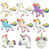 ( Choose Design First ) 10pcs/bag Silver Color Full Enamel Rainbow Unicorn Pendant For DIY Necklace Jewelry Making Accessories