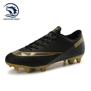 Large Size Long Spikes Soccer Shoes Outdoor Training Football Boots Sneakers Ultralight Non-Slip Sport Turf Soccer Cleats Unisex 1
