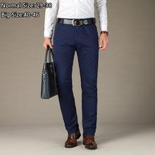 Pantalon Slim Fit extensible pour homme, vêtement de bureau formel, bleu, kaki, noir, 40 42 44 46, collection automne 2019