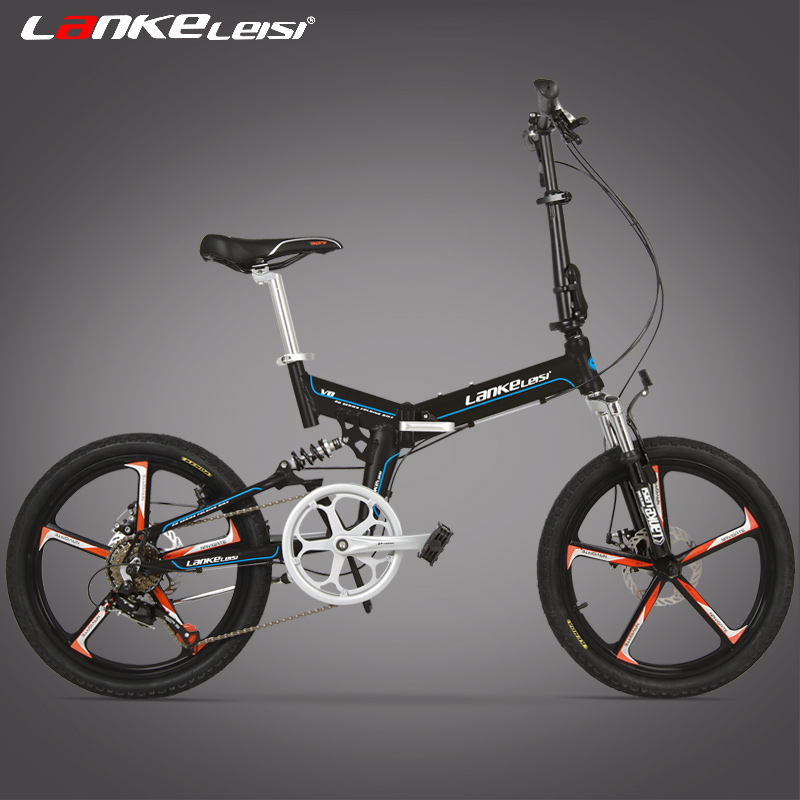 7 Speed 20 inches Folding Bike, Magnesium Alloy Rim, Front and Rear Disc Brake, Top Brand Speed Control System. image