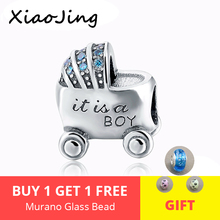 925 Sterling Silver Baby's Love Car With cz Charm Beads Fit original pandora charm bracelet diy beads jewelry making for gifts