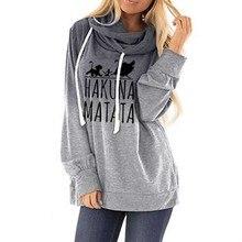 Hoodies Für Frauen Gradienten Pullover Hoodie HAKUNA MATATA Briefe Drucken Tops Sweatshirt Femmes Hoodies Frauen Sweatshirts Frauen