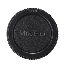Rear Lens Cap Cover + Camera Front Body Cap Dust-proof Protect For Olympus M4/3 Black Replacement Camera Lens Caps 52mm camera lens cap cover