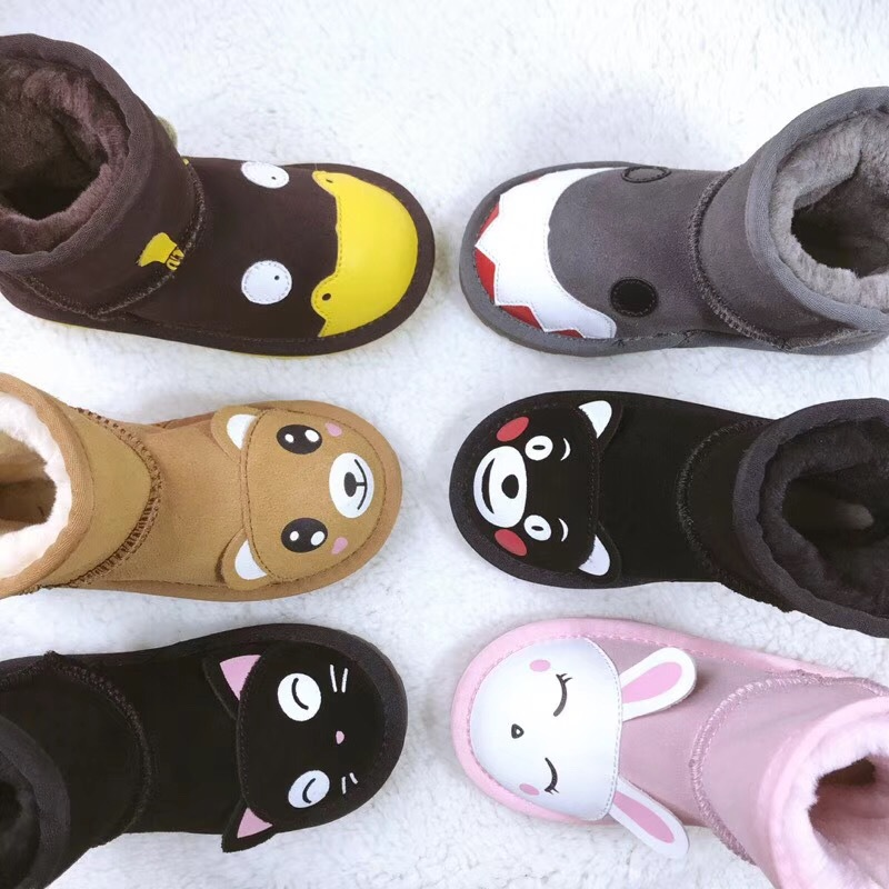 Children's Snow Boots Boys And Girls Shoes Waterproof Non-slip Monster Thick Baby Boots Warm Cotton Shoes