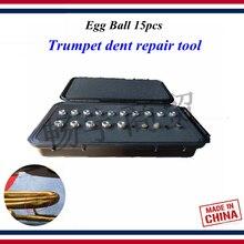 цены Wind instrument repair tool  Trumpet dent repair tool  Egg Ball  Professional maintenance Trumpet Bending part the deformation