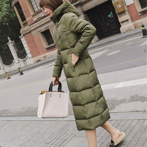 Image 4 - Abrigos largos con capucha gruesa para mujer, abrigos cálidos y ajustados, informales, con bolsillos sólidos, con cremallera, prendas de vestir de algodón para invierno, chaquetas de talla grande para mujer