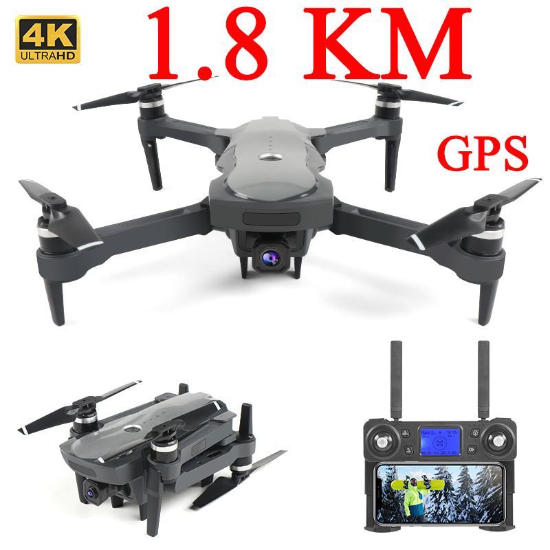 Drone Gps 1.8km 1800 4k 5G Long Range Profissional Drone With Brushless Motor 4k Gps Drone Dual Camera Foldable Kit Follow Me