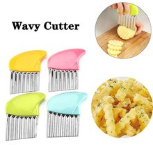 Wavy Potato Cutter Stainless Steel French Fries Knife Carrot Vegetable Slicer Spiral Cutting Tools Kitchen Cooking Gadgets