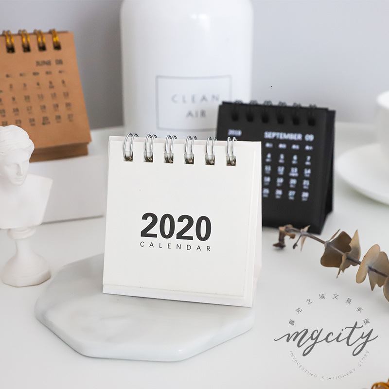 2020 Mini-Calendar Concise Delicate Simple Desk Calendar School Office Supplies