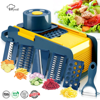 vegetable Slicer Vegetable cutter multifunctional Fruit  Potato Peeler Carrot Grater Kitchen accessories basket vegetable slicer 1