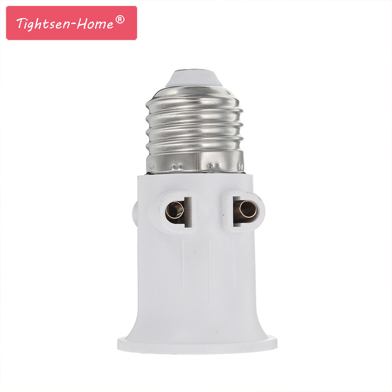 E27 ABS EU Plug Connector Accessories LED Bulb Adapter Lamp Holder Base Screw Light Socket Conversion For Lights AC100-240V 4A