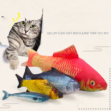 1Pc Pet Plush Creative 3D Carp Fish Shape Cat Toy Gifts Catnip Stuffed Pillow Doll Simulation Playing For Cats