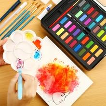 Воды цвет краски набор из 36 акварельных с кисточкой ручка для Живопись Рисунок раскраски товары для творчества твердых