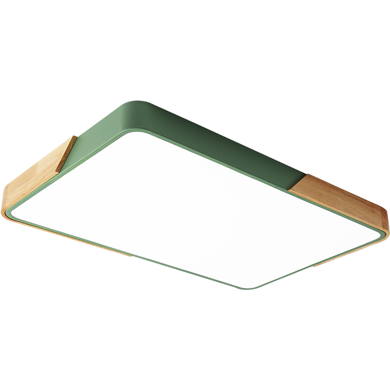 Modern LED Ceiling Light Ultra Thin Lamp Wooden Lighting Fixtures Surface Mount Home Remote Control Lamps for Living Bed Room