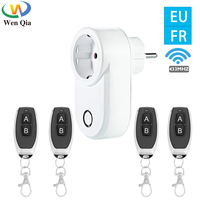 Interruptor de Control remoto inalámbrico Universal, enchufes de 433 V, enchufe inteligente de 15A, tomas eléctricas para luz/LED, EU, francés, 220 Mhz