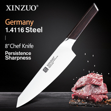 XINZUO 8 Chef Knife German Stainless Steel New Arrival Butcher Cleaver Santoku Vegetable Professional Knife with Ebony Handle