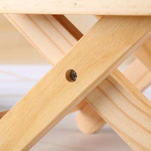 Image 5 - COSTWAY Portable Simple Wooden Folding Stool Outdoor Fishing Chair Small Stool W0169