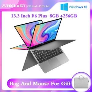 Teclast F6 Plus 360° Laptop 13.3 inch Notebook Windows 10 OS 8GB LPDDR4 256GB SSD 1920*1080 IPS Intel N4100 touch screen laptop(China)