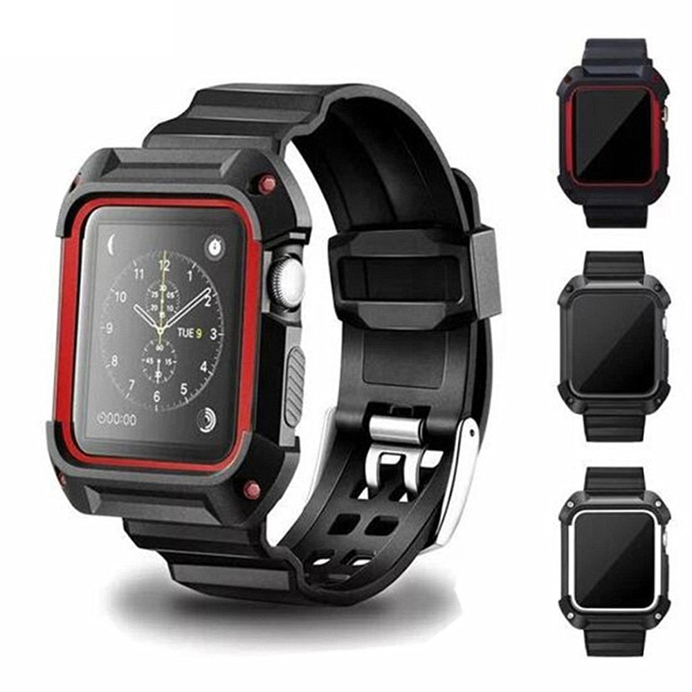 Sport strap For <font><b>Apple</b></font> <font><b>Watch</b></font> band 44mm 40mm <font><b>apple</b></font> <font><b>watch</b></font> 4 3 band case iwatch 4 3 band <font><b>42mm</b></font>/38mm correa <font><b>pulseira</b></font> Protective cover image
