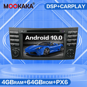 Android 10.0 64G PX6 Car Multimedia Player GPS Navigation For Benz E-Class W211 CLS W219 Auto Radio DVD Player Stereo Head Unit