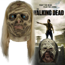 The Walking Dead Zombie Alpha Beta Scary Latex Mask Cosplay Masks Halloween Prop
