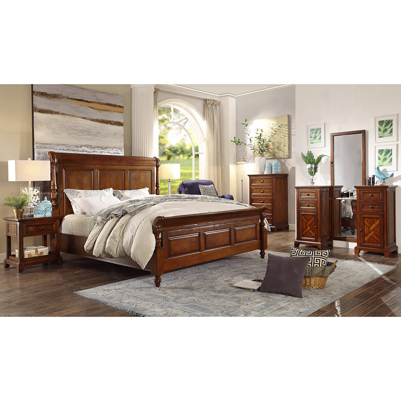 €502.91 |Lit king size et queen size en bois massif pour chambre à coucher  avec prix compétitif de la vraie usine WA600-in Lits from Meubles on ...