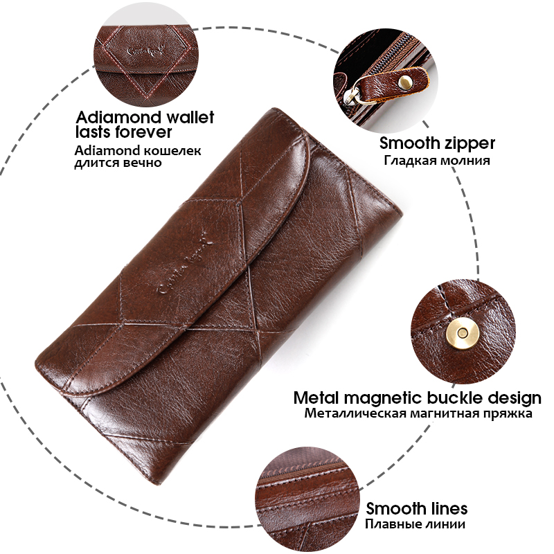 Image 4 - Cobbler Legend Diamonds Patchwork Genuine Leather Wallet Birthday Gift For Woman Purse female Designers Brand Woman Wallet moneybrand leather walletdesigner leather walletleather designer wallet -