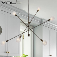 Modern Pendant Lights Hanging Lamp E27 Black Gold Bar Dining Living Dining Room Decoration Kitchen Fixtures Nordic Pendant Lamp