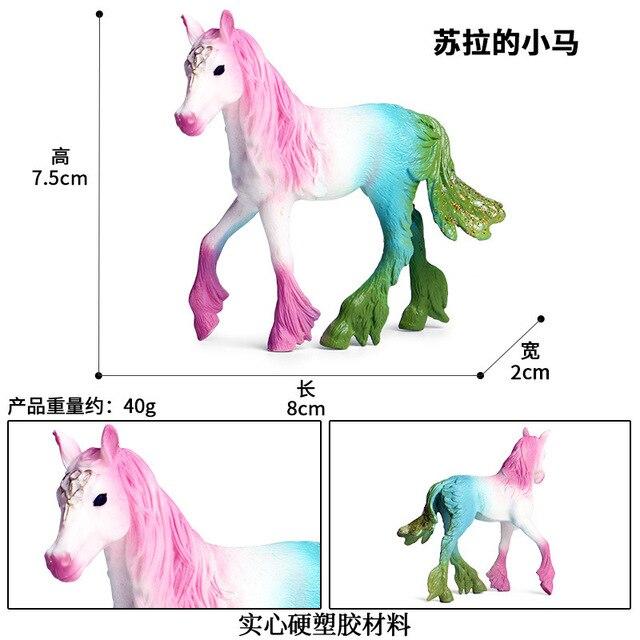 Hot little Pegasus elf horse children/'s animal hand model toy Deer fox static