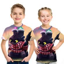 2019 Summer New How To Train Your Dragon 3 season 3d Printed Children T Shirt Boy/Girls Tshirt Kids Anime Cartoon Tee