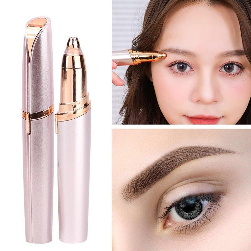 USB New Style Lipstick Lady Shaver Eyebrow Fixing Pen Charging Epilator Lipstick Lint Roller Women's Electric Shaving Eyebrow Ma