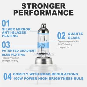 Image 2 - 2x 100W H1 H7 H8 H11 9005 HB3 9006 HB4 HeadLight HOD Xtreme Lamp 4300K Xenon White Blue Glass Replacement Car Halogen Light Bulb