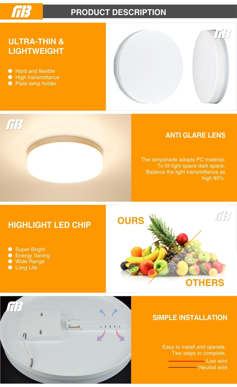 H76331834e4b64563b0e868e4848f6b47V LED Ceiling Light 48W 36W 24W 18W 13W 9W 6W Down Light Surface Mount Panel Lamp 85-265V Modern UFO Lamp For Home Decor Lighting