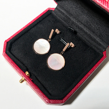 YUN RUO 2020 Rose Gold Color Natural Shell Round Earring Stud earring 316 L Titanium Steel Fashion Jewelry Woman Gift Never Fade