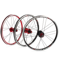 Small Wheel Folding Bike Wheel Set RT A100 451 406 20 inch Wheel Set Disc V Brake 5 Peilin