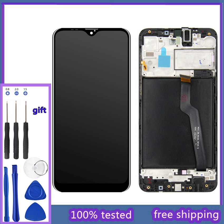 <font><b>Screen</b></font> <font><b>LCD</b></font> Touch <font><b>Screen</b></font> Digitizer With Touch for <font><b>Samsung</b></font> Galaxy <font><b>A10</b></font> A105 A105M SM-A105F M10 with repair tools image