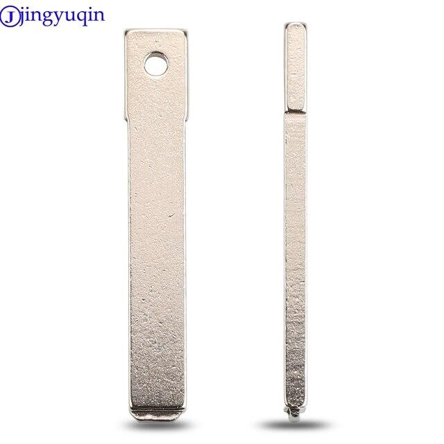 Jingyuqin 10 unids/lote clave en blanco de reemplazo para Renault para Citroen Peugeot remoto coche Original clave VA2 hoja sin cortar