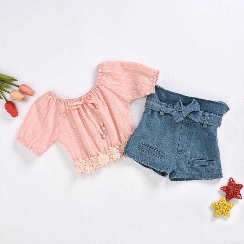 18M-5Year baby girls jeans shorts 2020 summer girl short pants for kids ripped jeans for children denim shorts 4