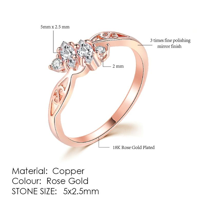 ZHOUYANG кольцо для женщин, простой стиль, кубический цирконий, свадебное кольцо, светильник, золотой цвет, модное ювелирное изделие KBR103 - Цвет основного камня: R777