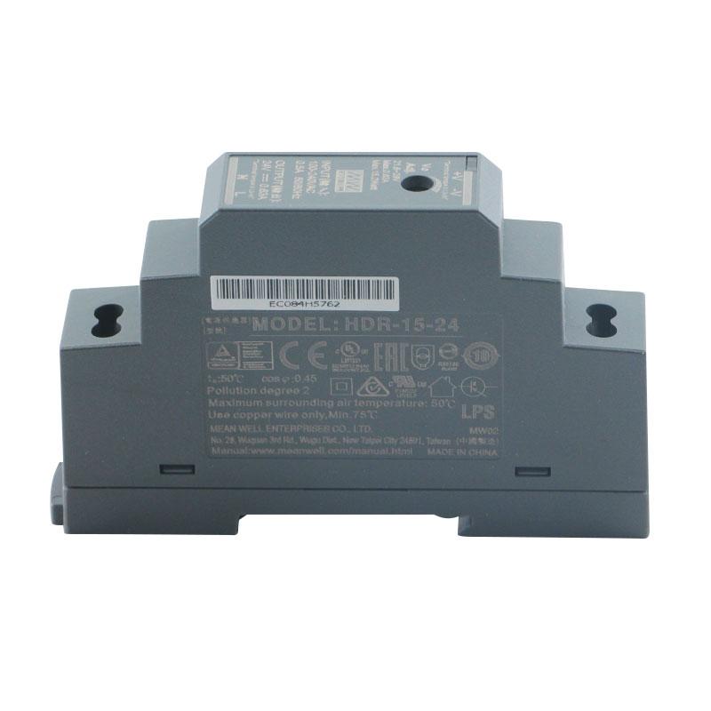 Mean Well HDR Series 5V 12V 15V 24V 48V meanwell 15W 30W 60W 100W 150W DC Ultra Slim Step Shape DIN Rail Power Supply