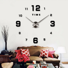 47inch Modern Design Quartz Clocks Fashion Watches Mirror Sticker Living Room Decor New Arrival 3D DIY Large Acrylic Wall Clock цена и фото