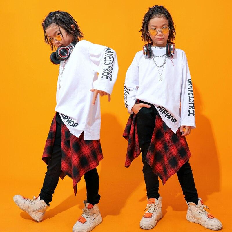 Mode Jazz danse Costumes garçons Hiphop scène tenues enfants danse de rue Performance vêtements pratique porter 3 pièces ensemble DC2726