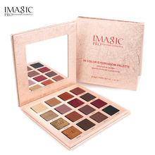 IMAGIC 16 Colors Shimmer Matte Eyeshadow Palette Pigment Cosmetics Pressed Glitter Waterproof Eye Shadow