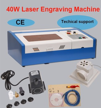 цена на Laser Engraving Machine Cnc Rotary Axis CO2 Laser Engraver Cutter 40W