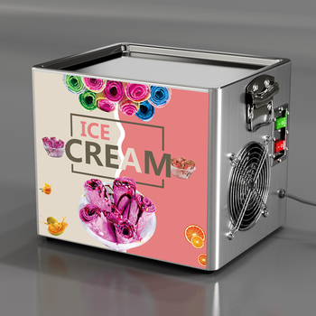 Mini ekspres do lodów w 2020 roku nowy typ tanie i dobre opinie SHIPULE 180W 500 ml CN (pochodzenie) YP-ZB-CBJ10 Rohs SASO Własny chłodzenia Fried Ice Cream Roll Machine 110v 220v Mini Fried Ice Cream Machine