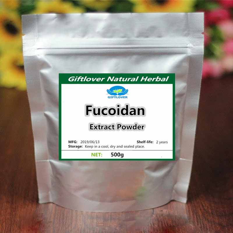 Fight Cancer and Viruses,Pure Fucoidan Extract Powder, Anti Cancer,Natrual Phaeophyta,High Quality with Free Shipping image