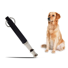 Dog Training Whistle Adjustable Whistle Supersonic Sound Repeller Pitch Stop Barking Quiet Black Whistle Tool Pet Supplies