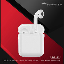 TWS V5.0 TG11 Wireless Bluetooth Earphones with Charger Box Waterproof Sport Headset Mobile Phone Smart Touch Headphones
