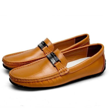 Genuine For Driving Shoes Men Casual Leather Boat Brand Men Loafers Wedding Shoes Slip-on loafers